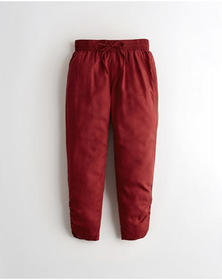 Hollister High-Rise Joggers, RED