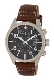 Citizen Men's Chronograph Leather Watch