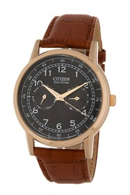 Citizen Men's Eco Drive Leather Watch