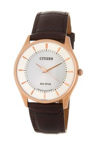 Citizen Men's Eco-Drive Leather Watch