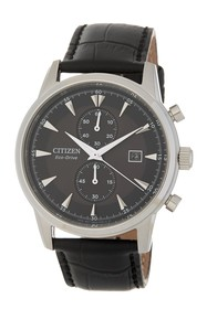 Citizen Men's Corso Eco-Drive Leather Watch