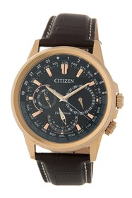 Citizen Men's Calendrier Leather Watch