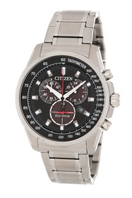 Citizen Brycen Chronograph Sterling Silver Watch