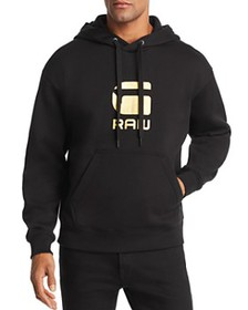 G-STAR RAW - Togrul Metallic Logo-Print Hooded Swe