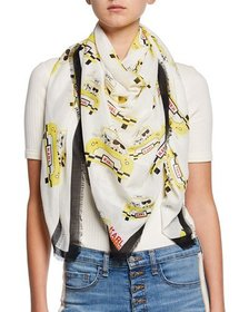 Karl Lagerfeld Taxi Print Square Scarf