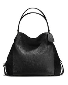 COACH - Edie Shoulder Bag 42 in Mixed Leathers
