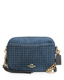 COACH - Quilted & Studded Camera Crossbody