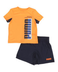 Puma performance tee & shorts set (2t-4t)
