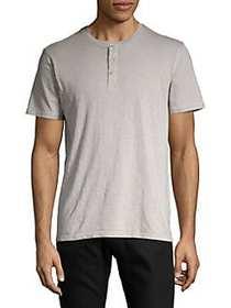 Black Brown 1826 Garment Dyed Short Sleeve Henley