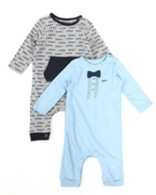 DKNY Jeans dk new york 2-pack coverall set (infant