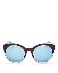 Dior - Women's Sideral 1 Mirrored Round Sunglasses