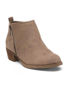 CARLOS SANTANA Ankle Bootie With Side Zippers
