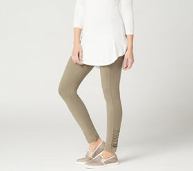 """As Is"" LOGO_by Lori Goldstein Knit Legging with R"