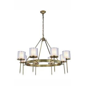 Simmon 8-Light Shaded Chandelier