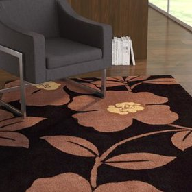 Shar Black / Brown Area Rug