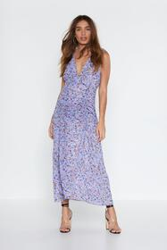 Nasty Gal Ruche Off Floral Dress