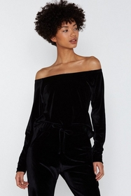 Nasty Gal Gimmie Gimme Velour Lounge Top