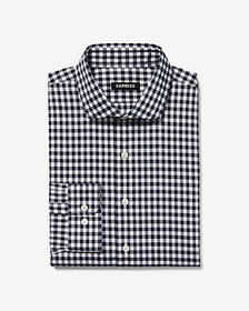 Express extra slim check dress shirt