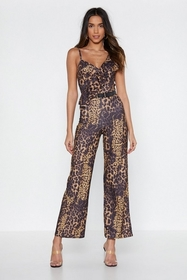 Nasty Gal Run With It Leopard Jumpsuit
