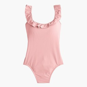 J. Crew Ruffled scoopback one-piece swimsuit