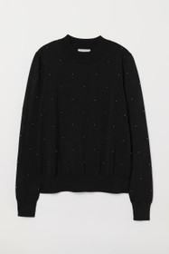 Bead-embroidered Sweater
