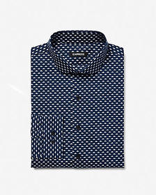 Express extra slim cotton cloud print dress shirt