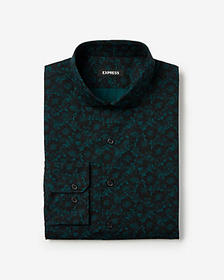 Express slim floral dress shirt