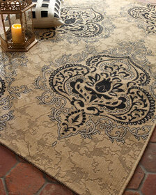 Safavieh Outdoor Damask Rug 6'7 x 9'6