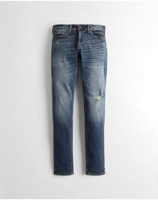 Hollister Advanced Stretch Stacked Skinny Jeans, D