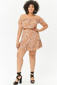 Forever21 Plus Size Tiered Daisy Skirt