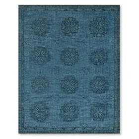 Blue Blossom Hand Knotted Rug