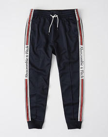 Logo Tape Tricot Joggers, NAVY BLUE