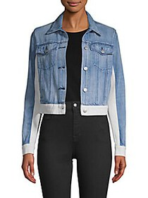 J Brand Harlow Shrunken Denim Jacket SUPER BLUE WH