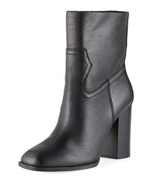 Splendid Nero Leather Booties