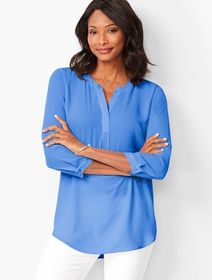 Talbots Banded-Collar Popover - Solid