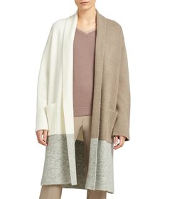Donna Karan New York Colorblock Long Relaxed Cardi