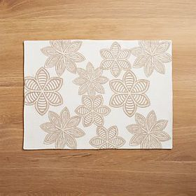 Crate Barrel Joplin Embroidered Placemat
