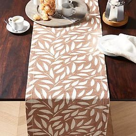 Crate Barrel Cecelia Embroidered Table Runner