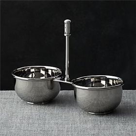 Crate Barrel Easton 2-Part Stainless Steel Server