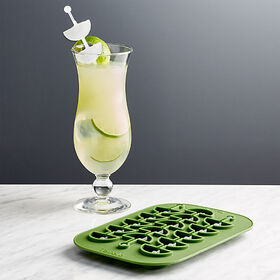 Crate Barrel Lime Wedge Swizzle Stick Ice Mold