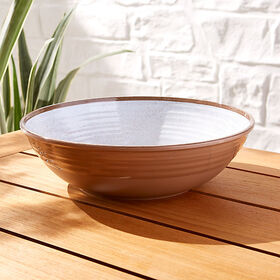 Crate Barrel Caprice White Melamine Serving Bowl
