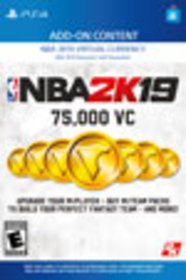 NBA 2K19 75,000 Virtual Currency for PlayStation 4