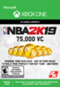 NBA 2K19 75,000 Virtual Currency for Xbox One