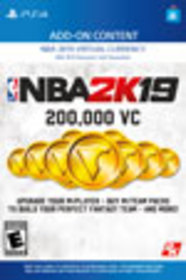 NBA 2K19 200,000 Virtual Currency for PlayStation