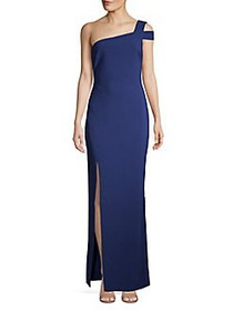 Likely Classic One-Shoulder Gown BLUE