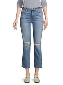 7 For All Mankind Edie High Rise Ankle Straight-Le