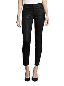 7 For All Mankind Ankle Skinny Coated Jeans COATED