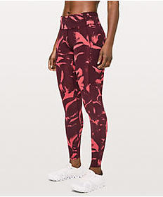 """Lulu Lemon Fast and Free Mid-Rise Tight 28"""" Non-Re"""