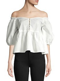 Free People Veronica Sweetheart Top WHITE