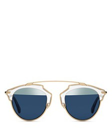 Dior - Women's So Real Split Lens Mirrored Sunglas